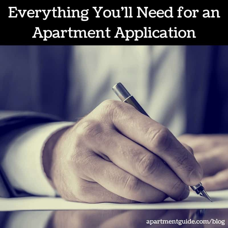 Everything Youu0027ll Need For An Apartment Application