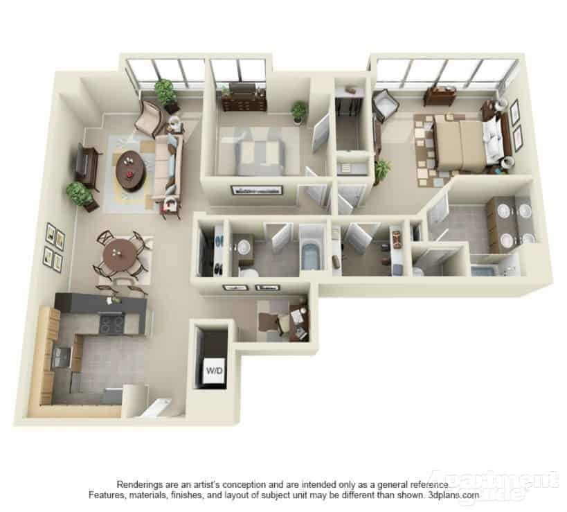 Apartmentguid Com: Finding The Right Apartment Floor Plan