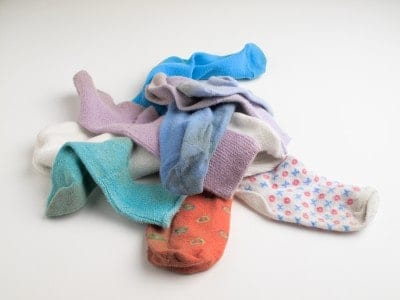 Instead of spending precious time searching for lost socks, take the mismatched sock and repurpose it, turning it into something cool or useful.