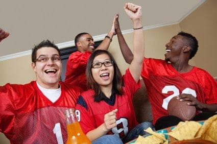 Can't make it to the big game? Host a tailgate party in your apartment.