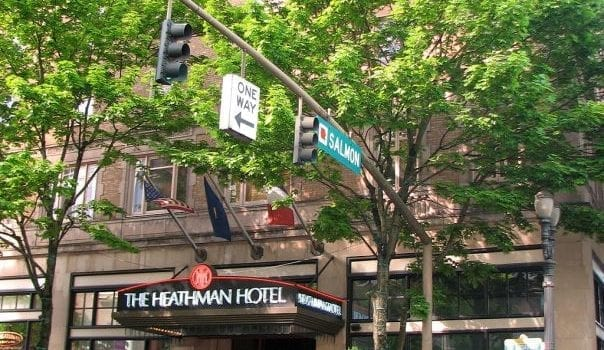 The Heathman Hotel is one of Portland's greenest establishments, thanks to its sustainability practices.