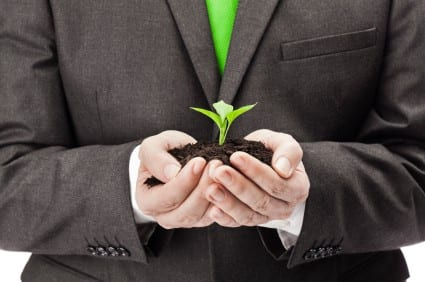 Eco friendly businessman
