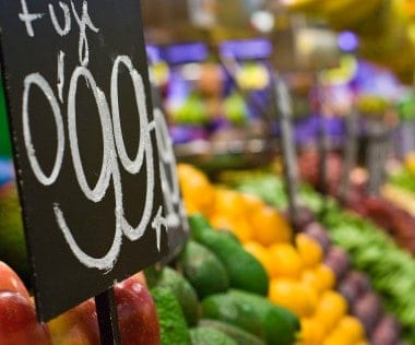 Save money on produce by purchasing it in season, and read the fine print when you see grocery store deals.