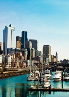 Downtown Seattle apartments offer great views of the waterfront.
