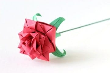 Don't spend a fortune on flowers this Valentine's Day. Make origami roses instead.