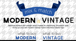 modern and vintage decor