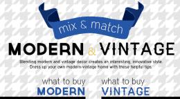 modern and vintage decor