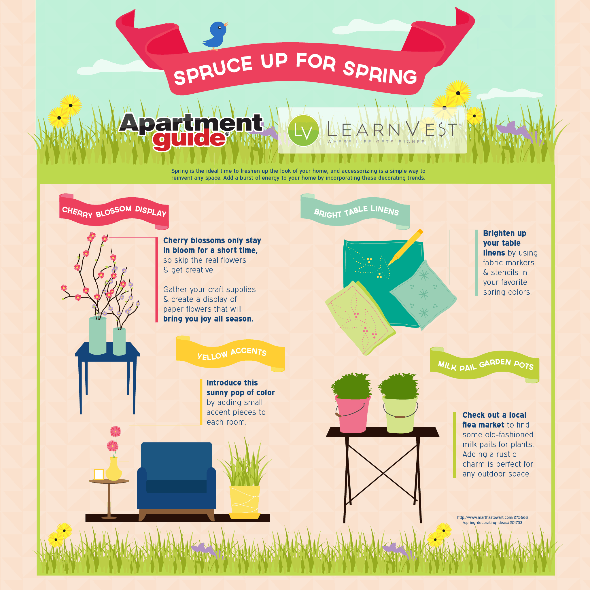 Spruce Up For Spring: Freshen Up Your Home (Infographic