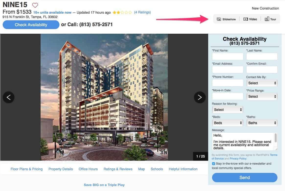 Apartment Guide Virtual Tours