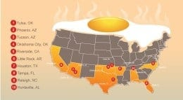 Top Metros for Keeping Cool