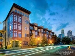 NC-Charlotte-The Apartments at Quarterside-exterior evening-thumbnail
