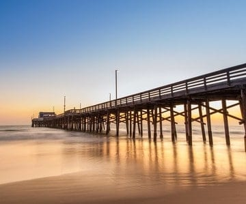 Newport Beach's piers are a major attraction for tourists.