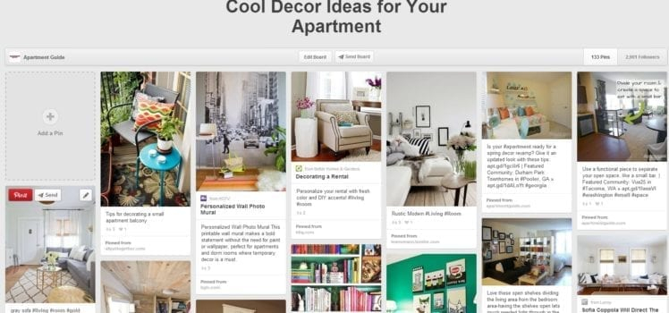 Find Decor Inspiration Online With Pinterest And Other Cool Tools Delectable Apartment Decor Pinterest Property