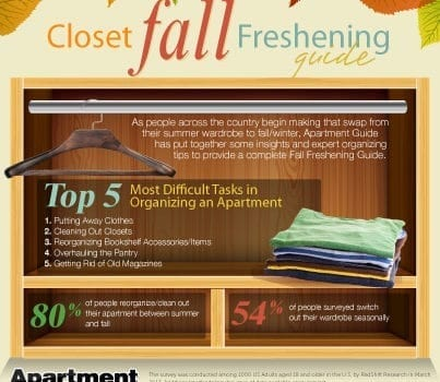 Closet Organization Tips For Fall Infographic