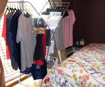 Drying racks are an eco-friendly, inexpensive way to dry your laundry.