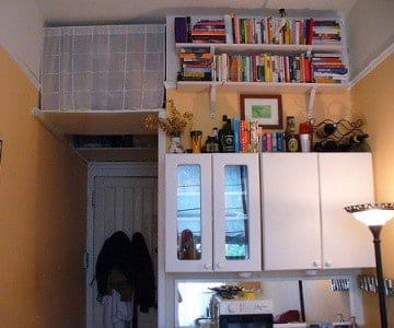 Look up -- there's a lot of storage space in high-up places.