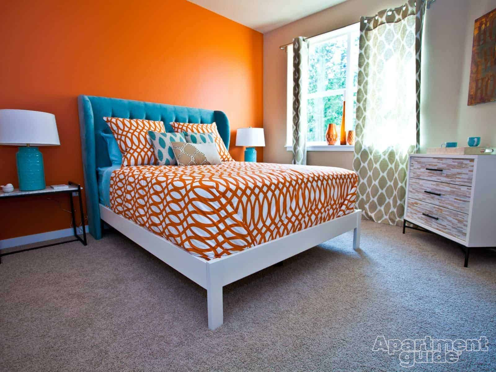 Apartment decor is orange the new black for White and orange bedroom designs