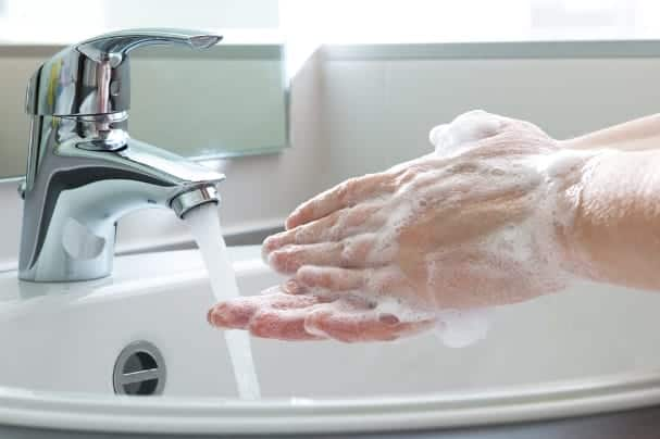 If you or your roommate has the flu, wash your hands often to keep the germs at bay as much as possible.