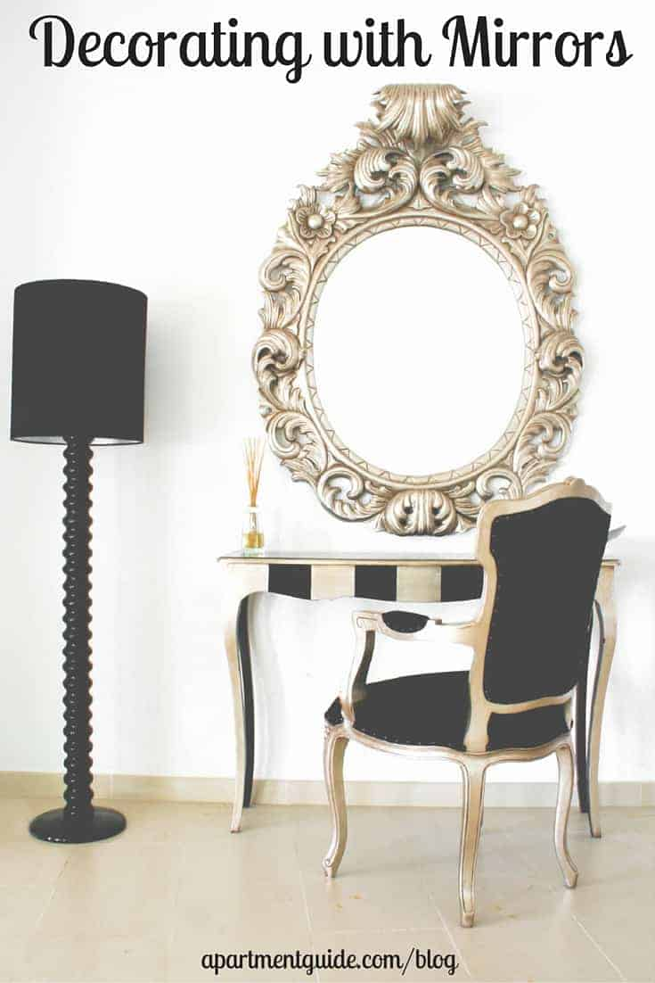 Decorating With Mirrors small apartment decor: a guide to decorating with mirrors