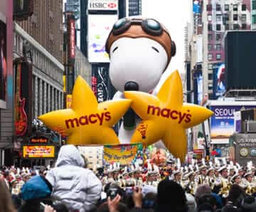 Parade Central in New York City: the setting for the annual Macy's Thanksgiving Day Parade!
