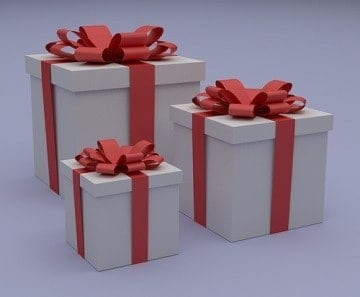 If a gift comes in a box, no need to wrap it -- just tie a ribbon around the box and you have a beautiful package.