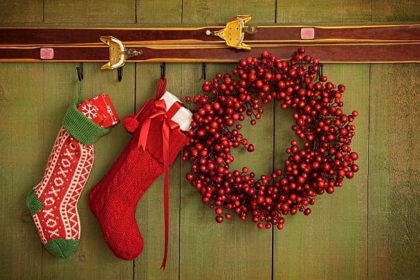 Don't worry if your apartment is lacking a fireplace. There are plenty of other places to hang your stockings before Santa comes.