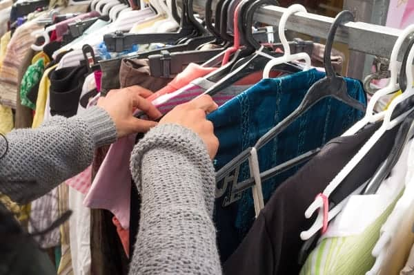 If your used clothing is in good shape, consider selling a few items to make some extra cash.