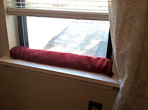 Draft stoppers block outside air from seeping into your place, making your windows more efficient and saving you money.