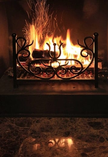Fireplaces are pretty, but they're also inefficient. Avoid using yours if you want to save energy.