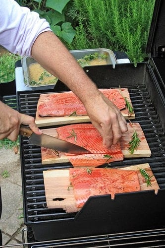 Salmon grilled on a cedar plank is a Seattle classic.