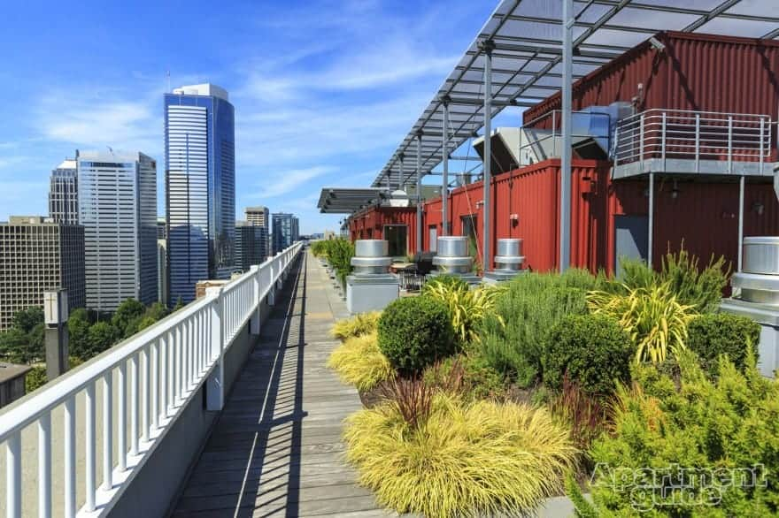 M Street Apartments in Seattle, Washington, feature an eco-roof for residents to share.