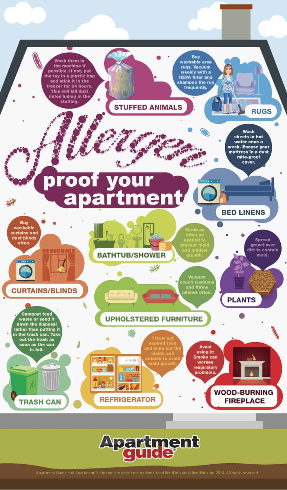 Get rid of allergens in your apartment