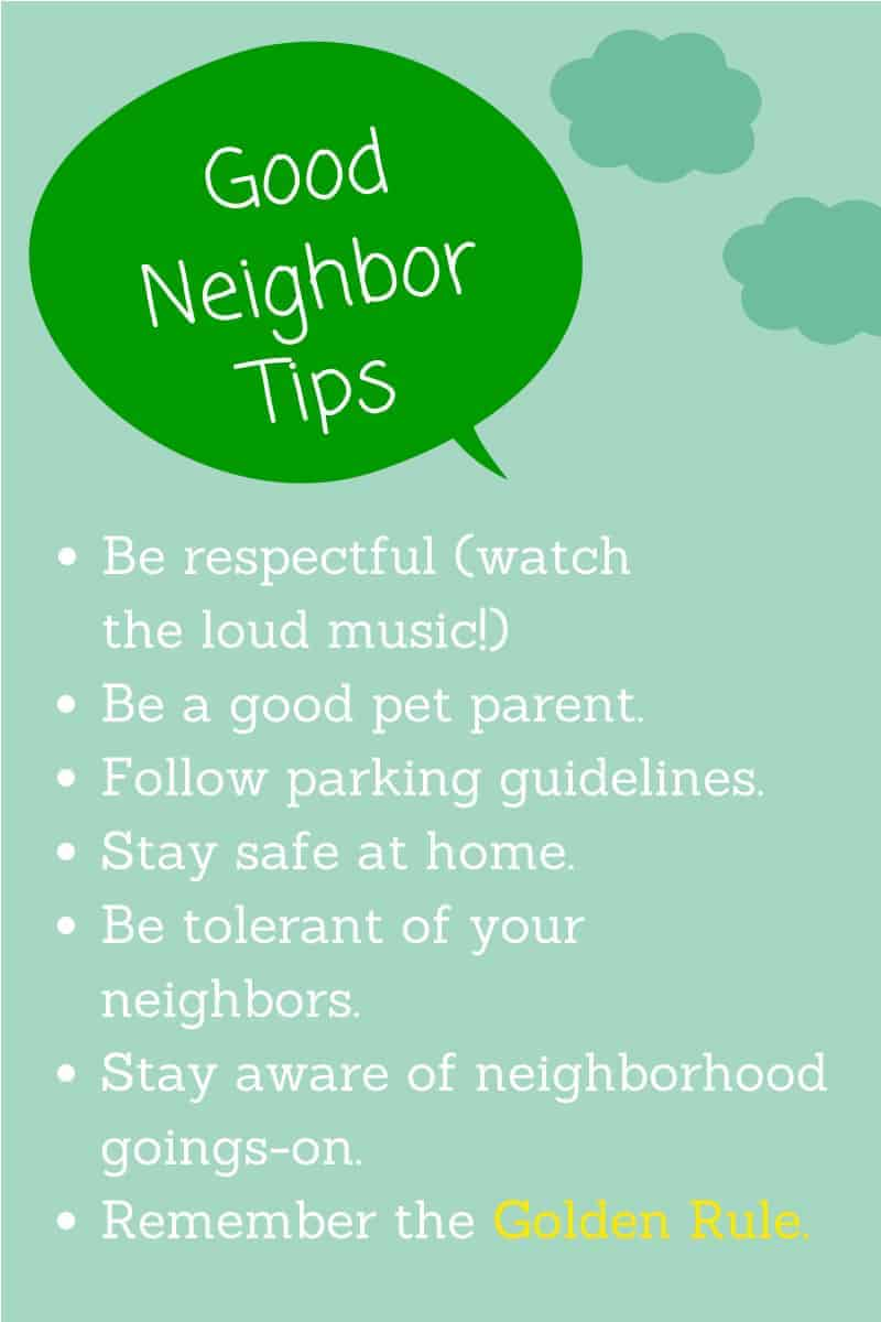 Good Neighbor Tips