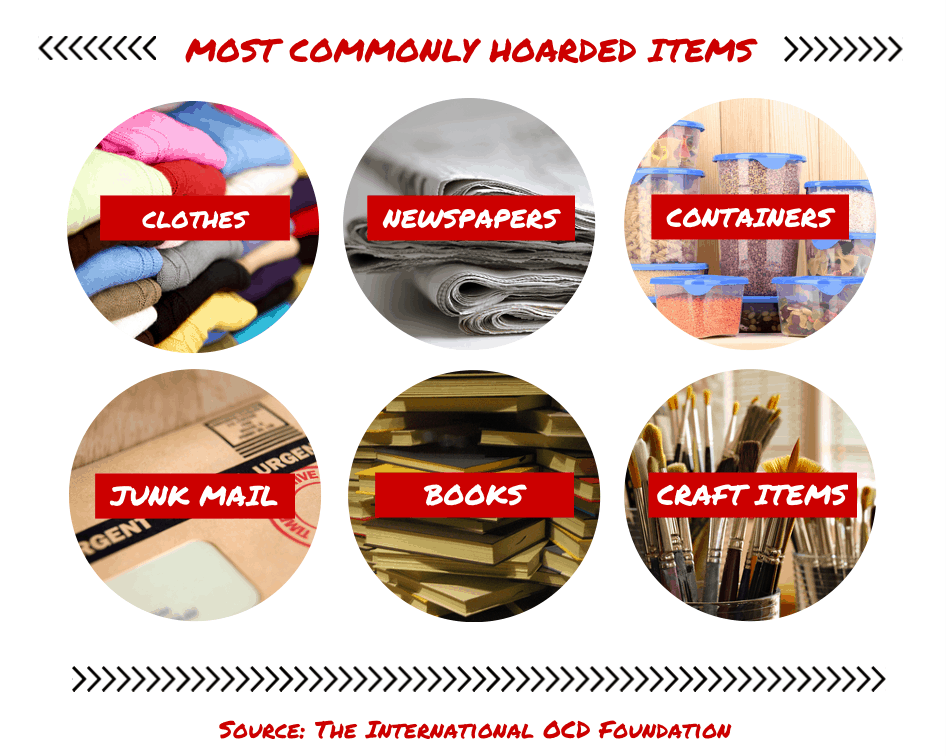 most commonly hoarded items