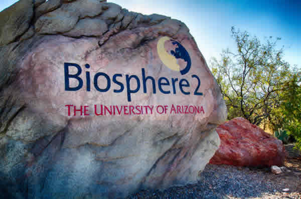"In Tucson, the University of Arizona's Biosphere 2 project is literally ""building an ocean in the desert."" The research being conducted in the 676,000-gallon saltwater tank located here includes water conservation efforts."
