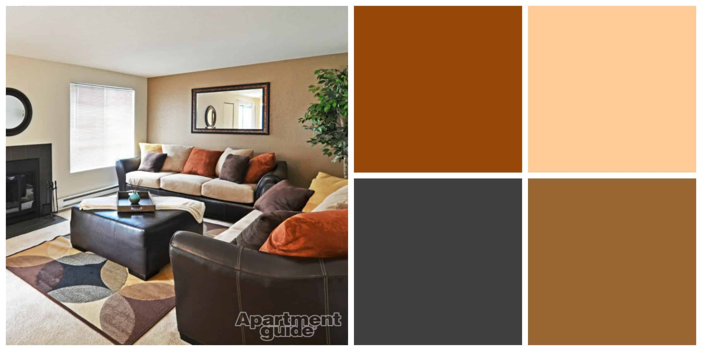 Warm colors for a living room