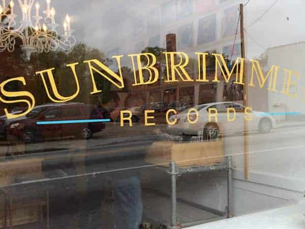 Window shopping at Sunbrimmer Records in Avondale Estates, GA