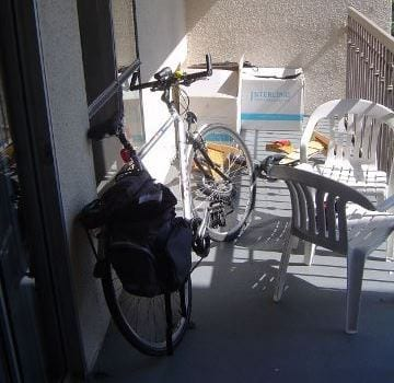 bike on balcony