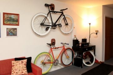 bike storage on the wall
