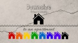 downsize from a house to an apartment