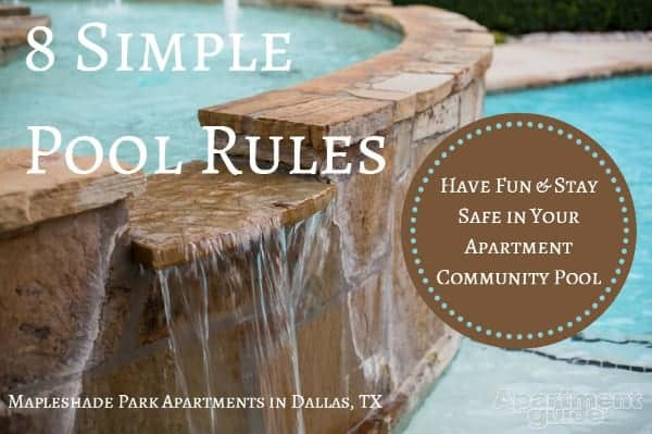 swimming pool rules for apartments