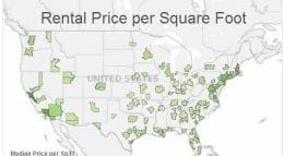 price per square foot 260p
