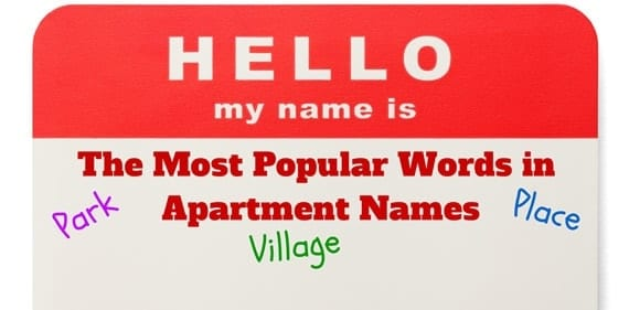 The Most Popular Words in Apartment Names