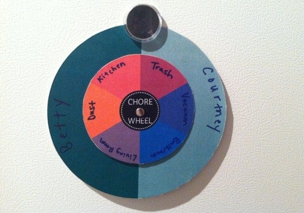 free downloadable chore wheel