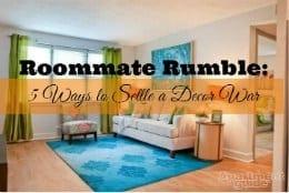 roommate decor war