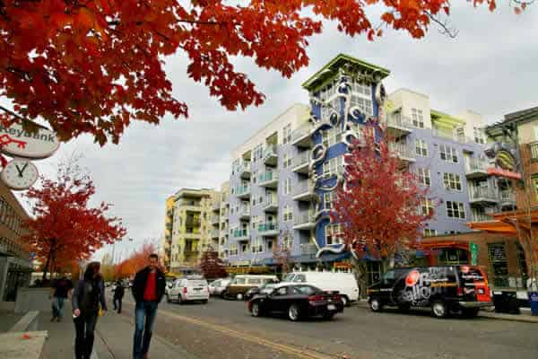 The Fremont neighborhood in Seattle, WA, the 11th most expensive metro to rent by square foot.