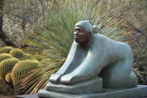 Corn Grinder sculpture, Desert Botanical Garden (Bill Florence)