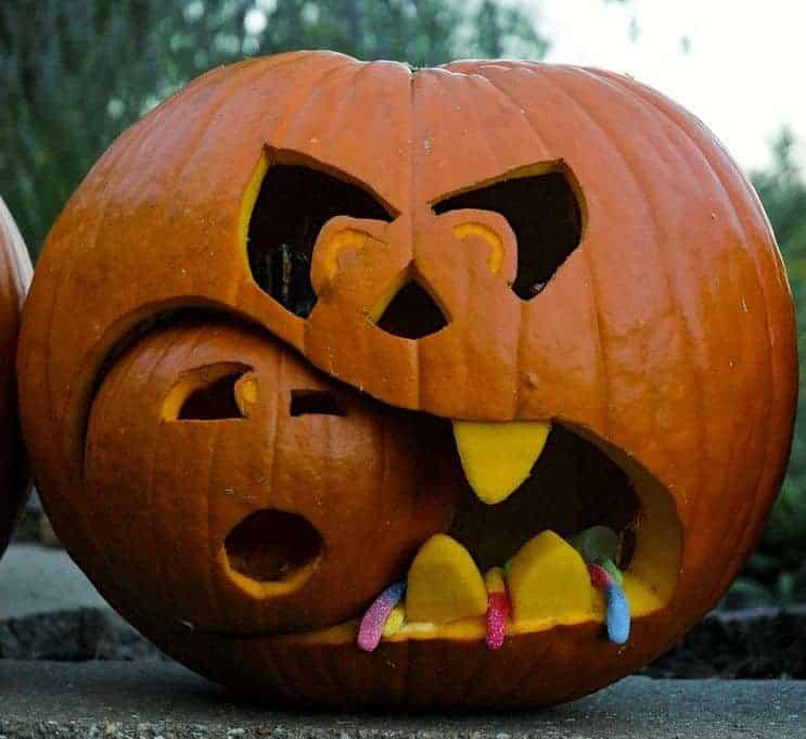 Carve it out the wilson sf for Pumpkin eating pumpkin stencil