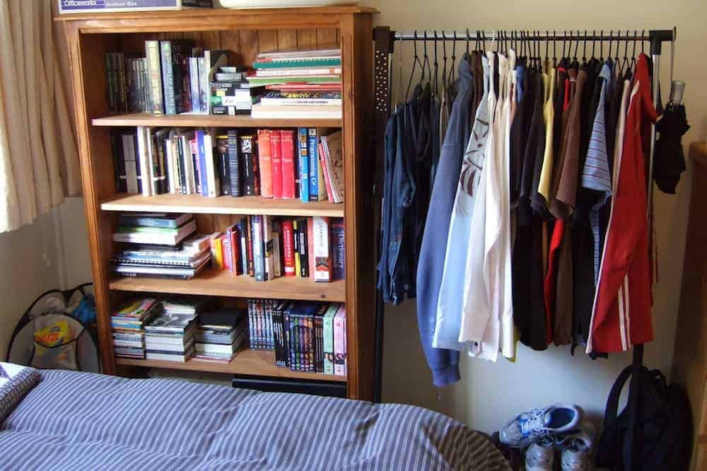 Survival guide what to do if you 39 re closetless No closet hanging solutions