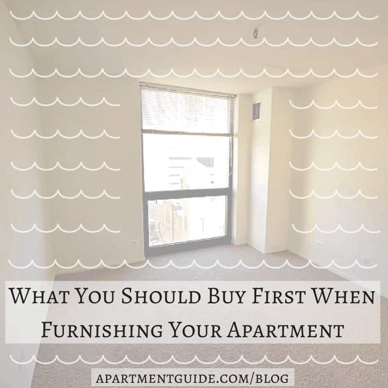 What You Should Buy First When Furnishing Your Apartment